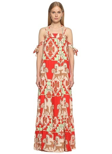 Adriana Degreas Plaj Elbisesi Kırmızı